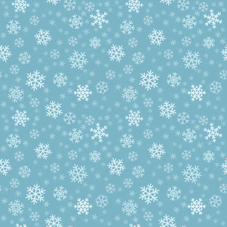 Vector seamless pattern with snowflakes for Christmas and winter background Illustration