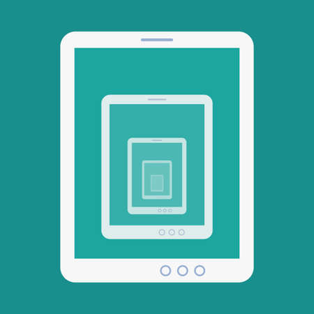 Vector flat illustration of tablet recursion
