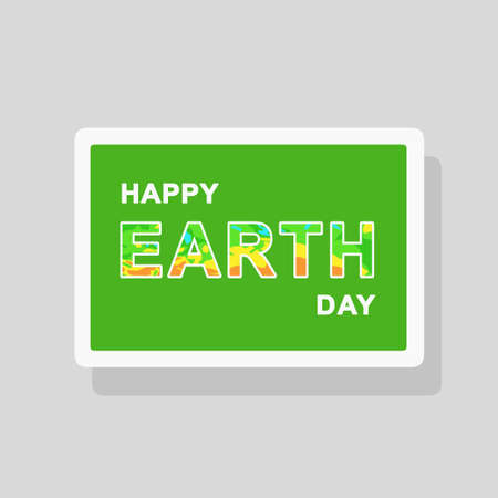 Vector double exposure illustration of Earth Day greeting card with map elements forming text silhouette