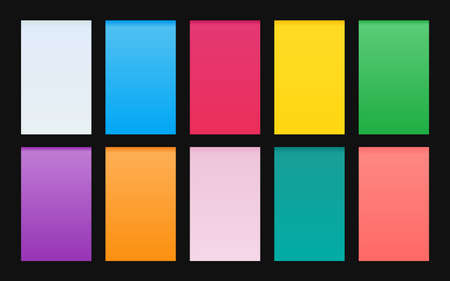 Vector set of gradient backgrounds material design