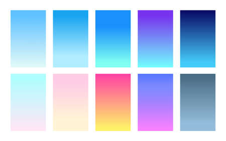 Set of gradient backgrounds sky color palette