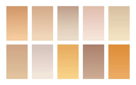 Set of gradient backgrounds wood color palette