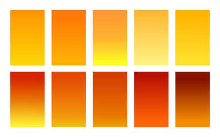 Set of gradient backgrounds honey color palette