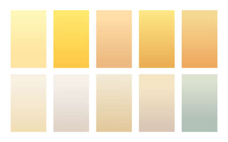 Set of gradient backgrounds sand color palette Çizim