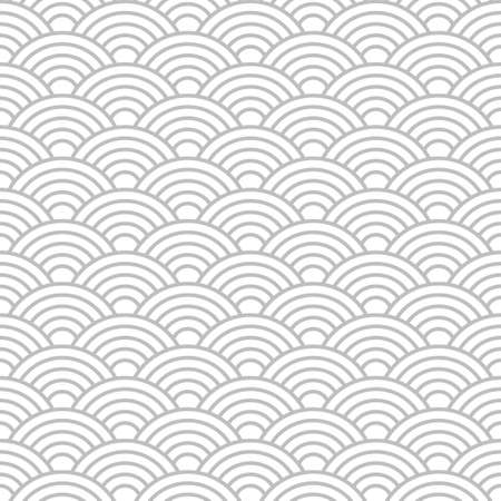 Seamless cloudy wave dragon fish scales pattern