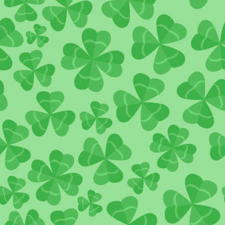 Seamless pattern clover leaves. St. Patricks day