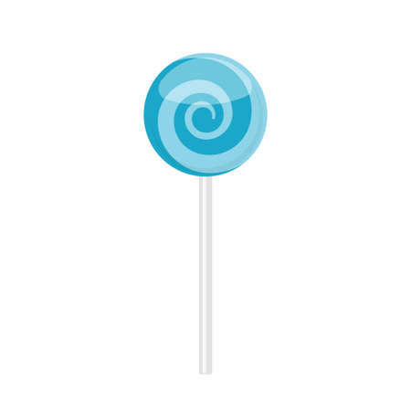 Lollipop candy with blue spiral pattern
