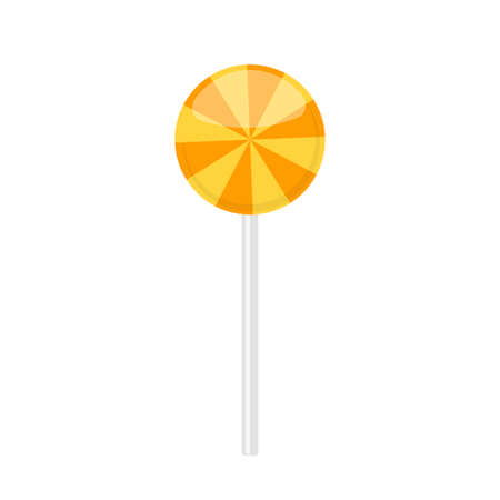 Lollipop candy with orange radial rays pattern 일러스트