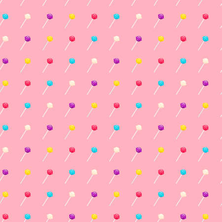 Seamless pattern with lollipop sweet candies Standard-Bild - 143751015