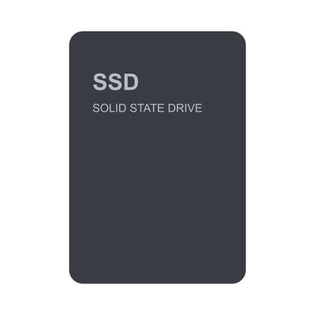SSD front view isolated on white background
