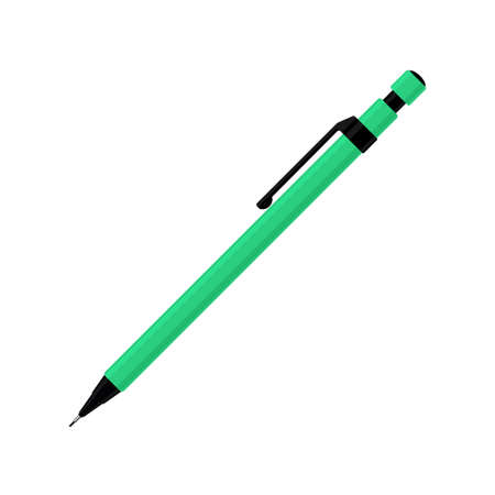 Mechanical pencil in green case with plastic cap