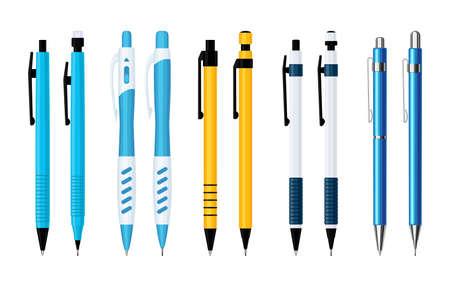 Ballpoint pens and mechanical pencils set