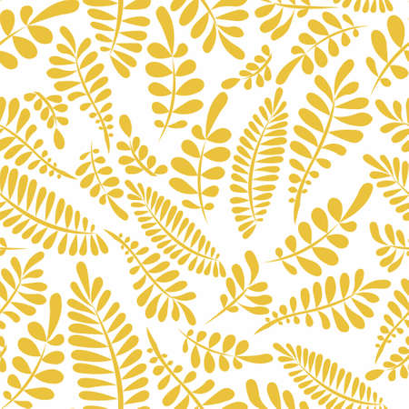 Stylized branches on a white background. Seamless pattern