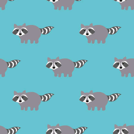 raccoons: Raccoons in a cartoon style. Seamless pattern for your design Illustration