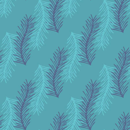 Stylized branch. Seamless vector background for design Illustration
