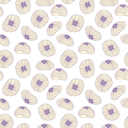reiteration: Stylized jellyfish seamless background for design