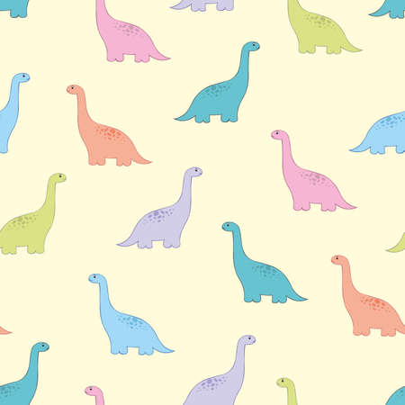Dinosaur. Vector children seamless pattern for design and decoration of childrens room, clothes, wallpaper, covers and surfaces