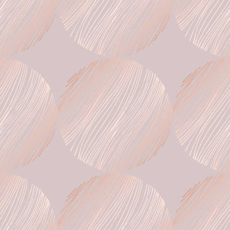 Abstract vector pattern with rose gold imitation. Decorative background for the design of covers, invitations, postcards and other surfaces