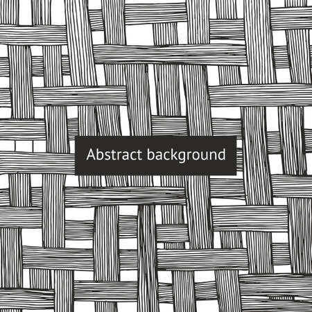 Abstract vector background with intricate intertwining lines. Hand drawing
