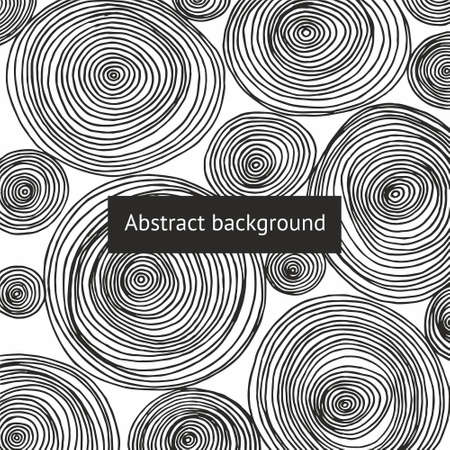 Abstract background with round patterns. Hand drawing 版權商用圖片
