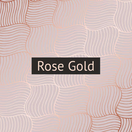 Abstract vector pattern with rose gold imitation for design of surfaces, cards, invitations, covers