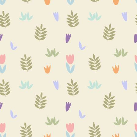 Delicate floral pattern. Vector seamless background for design of textiles, wallpapers, covers, printing, packaging and wrapping paper