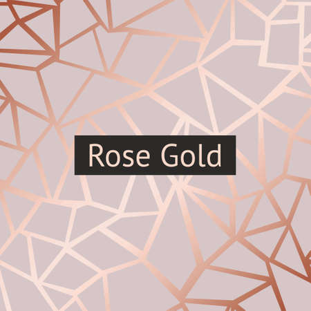 Rose gold. Vector decorative background with imitation of rose gold for sales, printing and design of greeting cards, covers, banners