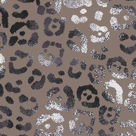 Leopard skin. Elegant leopard texture with foil effect. Stock illustration