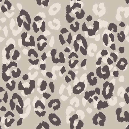 Leopard skin. Vector seamless pattern with imitation of leopard skin. Stock vector