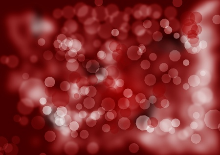 christmas or winter background in red with white light reflexes photo