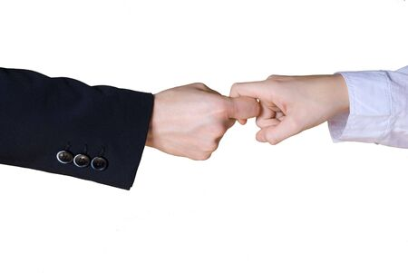 rivalry: business hands in rivalry Stock Photo