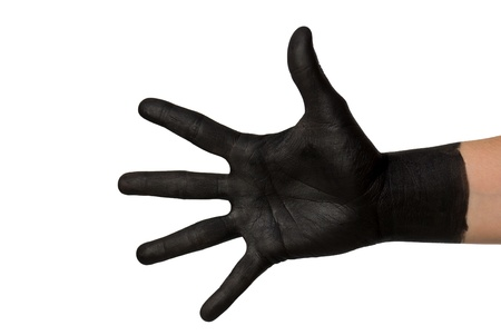 thievery: a black hand on white