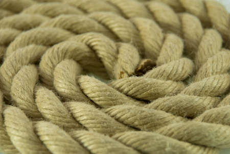 labyrinthine: rope building a circle as background