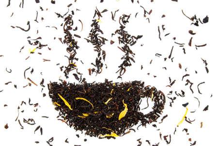 potation: a cup of tea, made out of tea