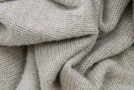 uniformity: background with cotton structure or cotton texture, beige Stock Photo