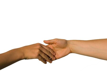 gently: a gently handshake between two young hands