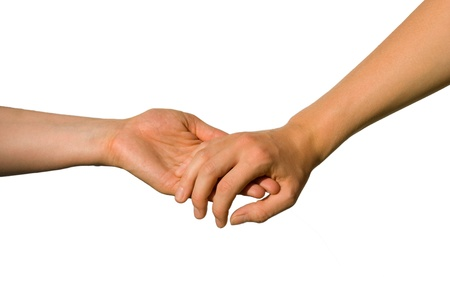 parship: one hand helps the other one Stock Photo
