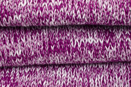 synthetic fiber: purple and white cotton structure as background or texture Stock Photo