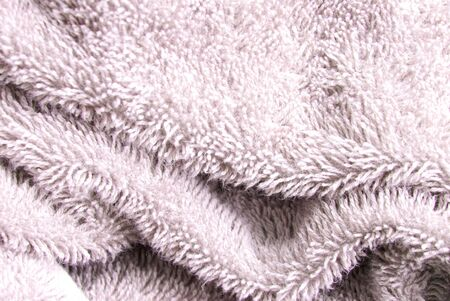 synthetic fiber: a rosa gentle texture with nabby structure Stock Photo