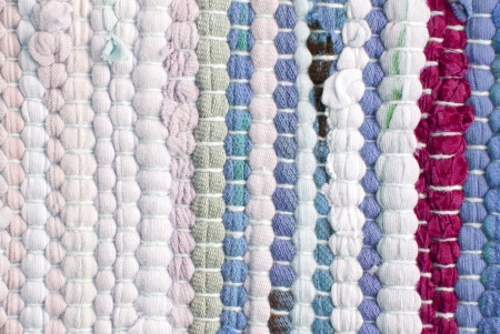 a cloth material background with stripes in different colors Stock Photo - 18056847
