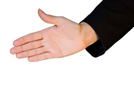 business hand in handshake gesture photo