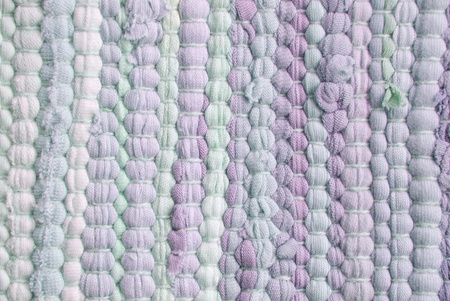 napped: cloth material stripes in different purple colors, background or texture Stock Photo