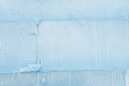 wintriness: a wall made out of ice as texture or background