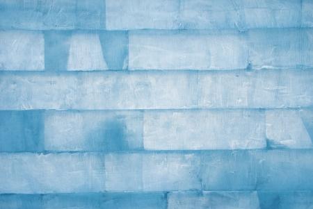 pared de cubos de hielo como la textura o el fondo