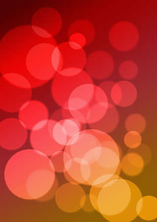 a red and yellow background with shiny circles photo