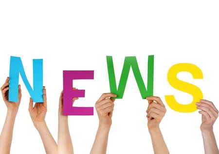 actuality: mani che la parola inglese NEWS simboleggia alcune nuove informazioni, isolati