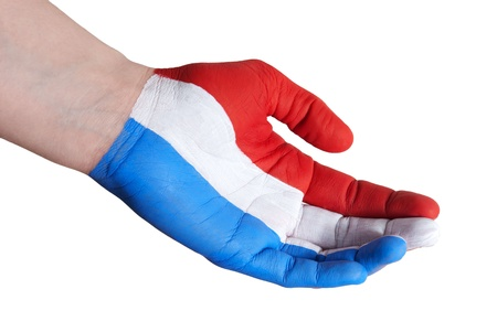 a dutch hand in a helping gesture photo