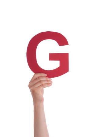 illiterate: A Hand With a Red G in It, Isolated