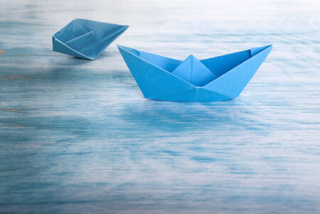 rescuing: Boat Accident with Origami Boats, Symbolical