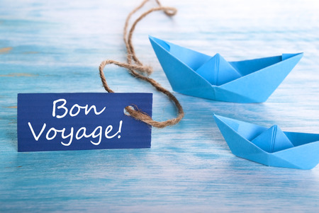 bon: Label with the French Words Bon Voyage which means goog trip